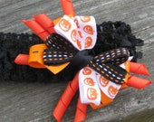 INFANT HALLOWEEN BOW Headband, Baby Halloween Headband,  Halloween Headbands, Headbands, Infant Headbands, Headbands for Babies, Halloween