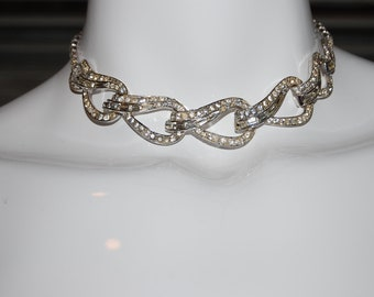 Vintage 1950s Boucher Rhinestone Necklace