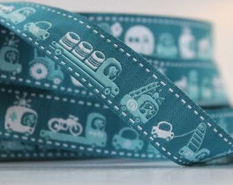 woven ribbon on wheels (petrol)