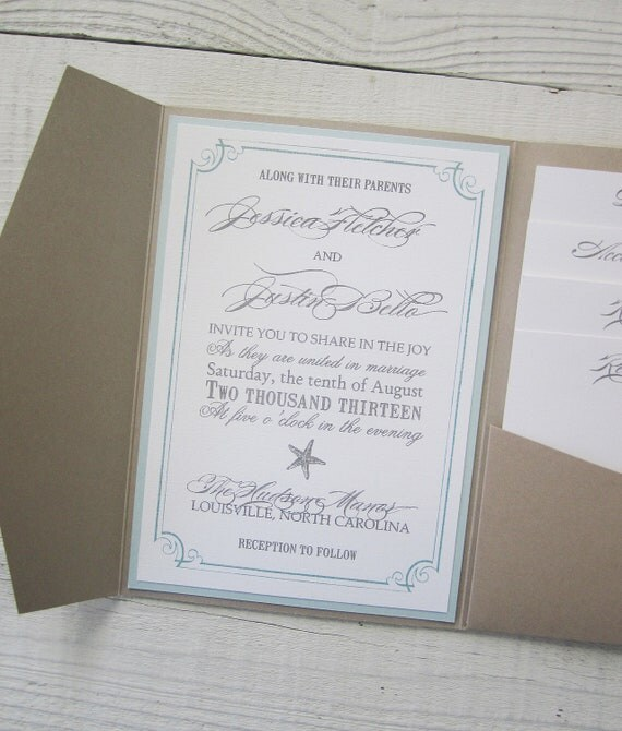 beach wedding invitation rustic wedding invitation starfish tropical 1590