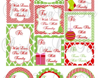 Printable Personalized Christmas Tags