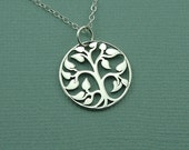 Small Tree of Life Necklace - sterling silver necklace - tree necklace - tree jewelry - tree pendant - trendy necklace