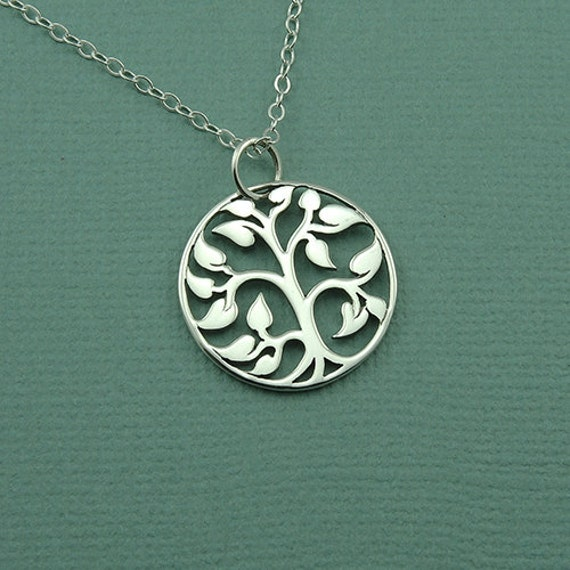 Small Tree Of Life: Small Tree Of Life Necklace Sterling Silver Tree Necklace