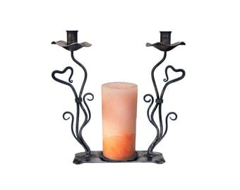 Unity Candle Holder L2 (  Clear and Black)