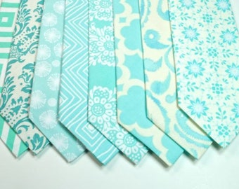 Aqua Neckties Mens Neckties Custom Neckties Aqua Wedding Neckties Wedding Neckties
