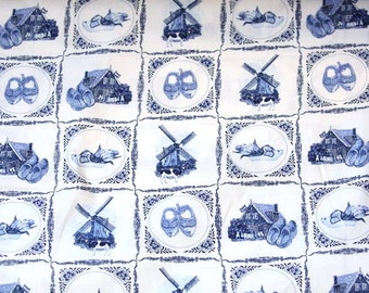 Delft Blue cotton fabric - Dutch print - Fat Quarter