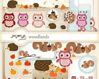 Woodlands Complete Digital Stationery Set