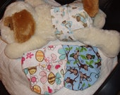 "Female dog diapers set of 3, 11-12"" waist"