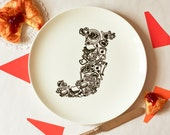 J for Jam - Alphabet Ceramic Plate