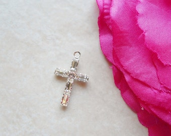 Add-On 19mm Swarovski Crystal Cross Charm X025