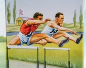 Vintage Olympic Athletic Paper Scrap Ephemera