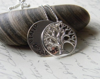 personalized necklace family necklace  tree locket