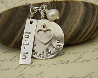 hand stamped something blue