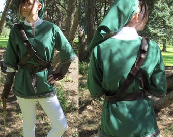 Legend of Zelda Link Skyward Sword Cosplay Costume Size S M L XL