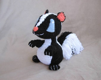 Crocheted Skunk PDF Pattern - Digital Download - ENGLISH ONLY