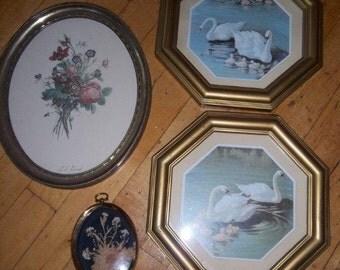 Sale - Framed Prints - Homco Inc. - Struart Product Mfg. - T.L. Trivost Artist - Vintage Jewels