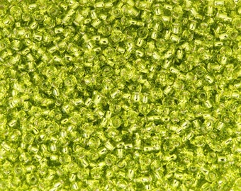 TOHO Seed Beads Round 11/0 24 Silver-lined Lemon Lime Wholesale Destash