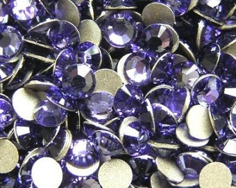 200 pcs TANZANITE Swarovski Crystal 2028 ss5 Rhinestone Flatbacks Non Hotfix