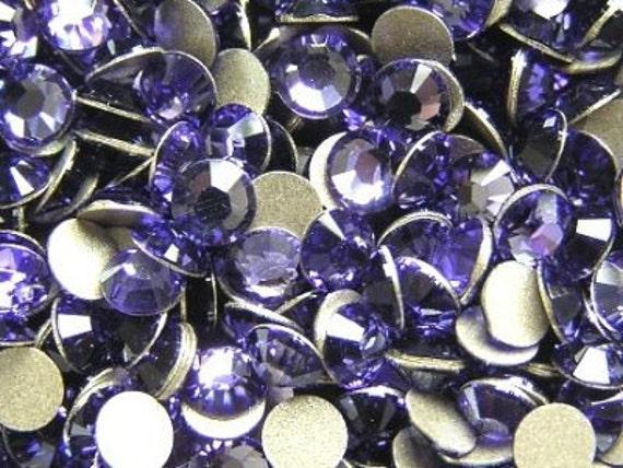 250 pcs TANZANITE Swarovski Crystal 2028 ss16 Rhinestone Flatbacks Non Hotfix