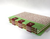 Eco-Friendly Journal or Sketchbook from Recycled Vintage Book Covers - Rebound Upcycled - Handmade