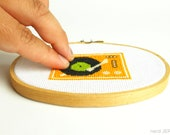 DIY Nerdy Cross-Stitch Kit - RECORD PLAYER 006- Complete with Geeky Beginner Embroidery Tutorial