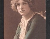 Vintage Postcard of British Edwardian of Stage Star Actress Miss Gladys Cooper in the style of a  potential greetings postcard