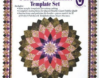Marti Michell Mitchell Giant Dahlia Quilt Template Set