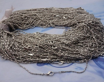 Get 20pcs of our White K Plated/ Bar and Ball Chain Necklaces/Jewelry supply/17 inch