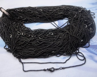 Get 50pcs of our Black Plated/ Ball Chain Necklaces/Jewelry supply/16.5 inch