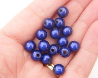 20 Royal blue  miracle beads