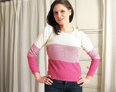 Vintage 1970's Pink Striped Sweater