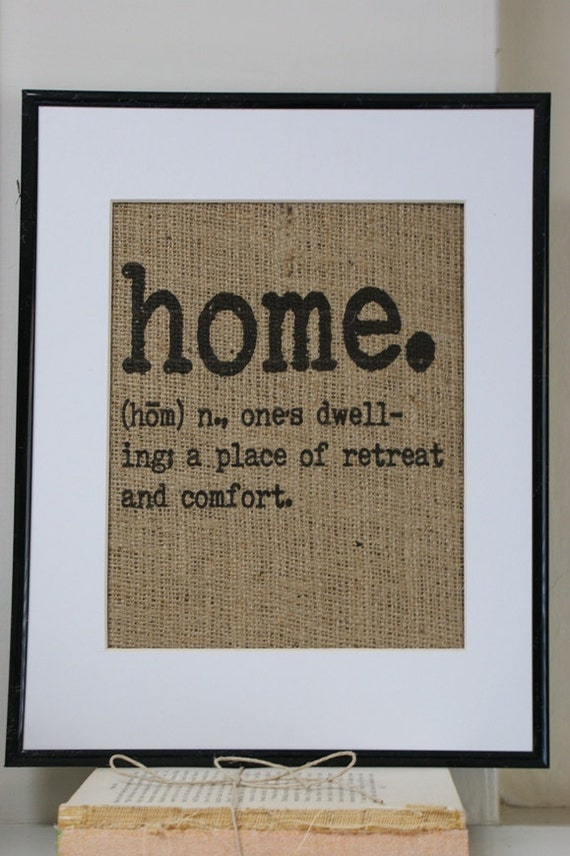 Free US Shipping...home. Great housewarming gift. - La Poste Burlap Print.