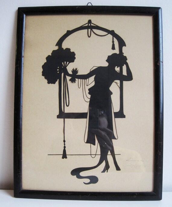 Vintage Art Deco Silhouette 1920s By Farfallashop On Etsy
