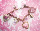 "Heart Charm bracelet ""charmed I'm sure"""