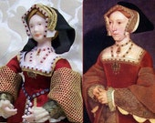 Tudor Doll, Queen Jane Seymour 12th scale dollhouse doll.
