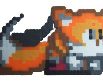 Tails Perler Beads