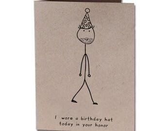 Birthday Humor Greeting Card Hat