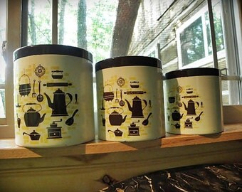 1960s KITCHEN CANISTERS
