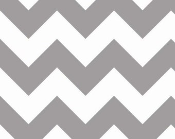 Back in Stock, Chevron in Grey LARGE by Riley Blake Designs, End of bolt 24""