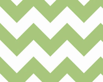 Chevron in Green LARGE by Riley Blake Designs 1/2 yard total