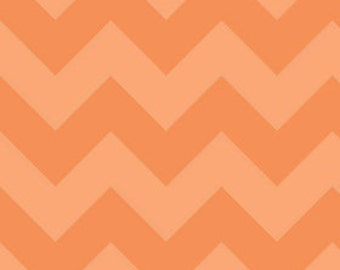 Chevron in LARGE Tone on Tone Orange by Riley Blake Designs, 1 yard