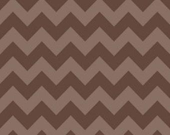 Medium Chevron Tone on Tone Brown by Riley Blake Designs 1 yd total