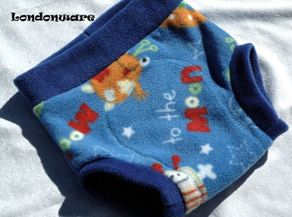 Aliens in outer space anti pill fleece diaper cover by for Outer space fleece