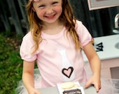 Girls Cookie Party Pink Shirt with Milk Bottle
