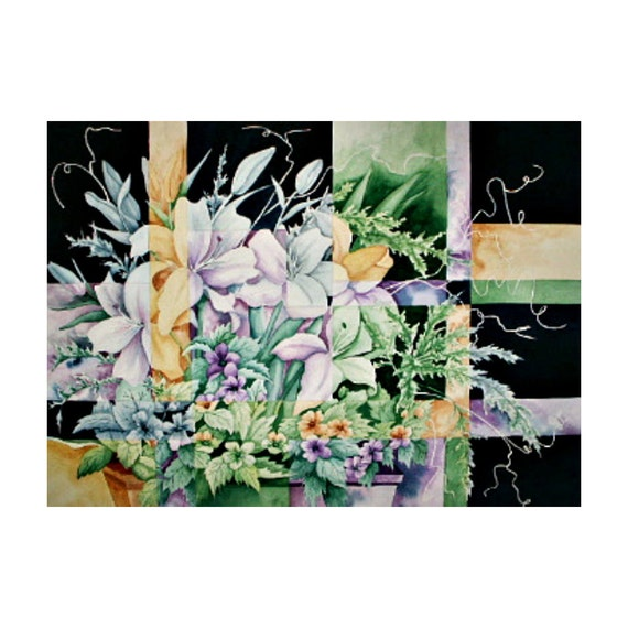 Shattered Reality VI (Lilies on Black) - Limited Edition Giclee