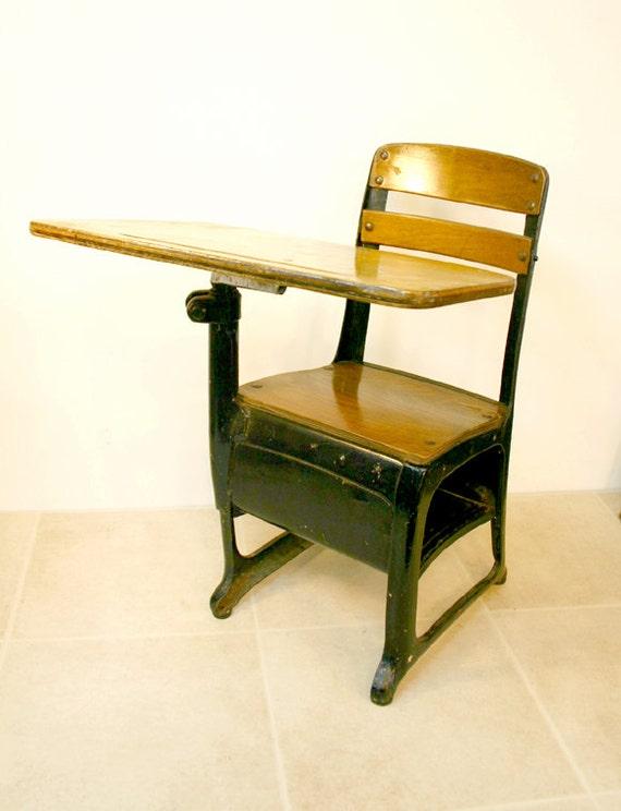 Vintage School Desk / Child's Desk and Chair
