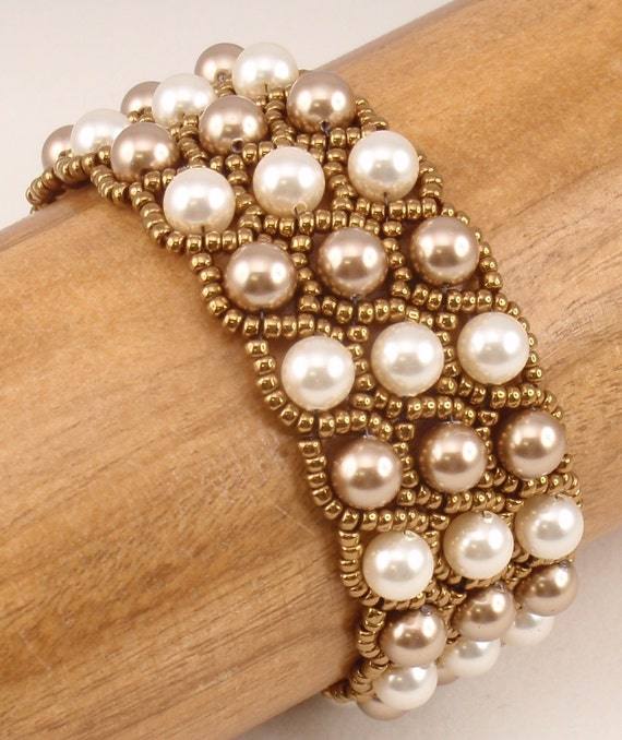 beading tutorial for grand duchess bracelet jewelry pattern