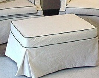 ottoman slipcover made to order requires 24 yards fabric shipped to pat with