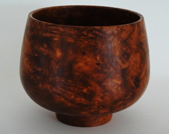 WOOD BOWL Amboyna Burl from Southeast Asia.