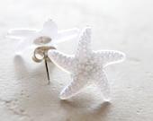 White Starfish Earrings / Starfish Jewelry, Beach Wedding Jewelry, Ocean Jewelry, Nautical Earrings Star Fish Summer Jewelry, Coastal Chic